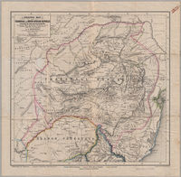 Original map of the Transvaal or South-African Republic including the gold and diamondfields