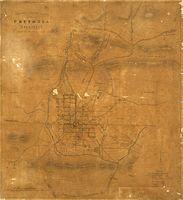 Compass sketch plan of Pretoria, Transvaal