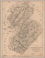 Map of Basuto land and surrounding territories