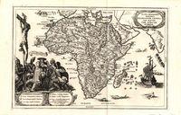 Mappa geographica exhibens religionem Catholicam alicubi per Africam sparsam