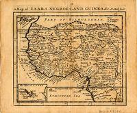 A map of Zaara, Negroe-Land, Guinea etc.