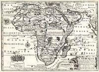 L'Afrique dressée selon les derniers relations et suivant les nouvelles decouvertes dont les points principaux sont placez sur les observations de Messieurs de l'Academie Royal des Sciences