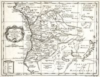 Carte des royaumes de Congo, Angola et Benguela avec les pays voisins tiré de l'Anglois