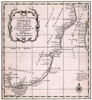 Carte de la coste orientale d'Afrique depuis le Cap de Bonne Esperance jusqu'au Cap del Gada :