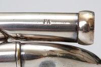 Crook for pocket cornet KG028,  marked 'LAB', 'FA', 'MI', 'SOL' respectively