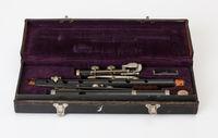 Concert flute with nine keys and case