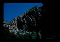 Image from rock painting site. Site of Montagu Cave, South Africa.