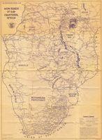 Main roads of sub-Equatorial Africa