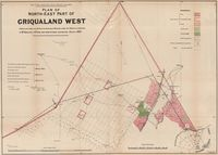 Plan of north-east part of Griqualand West. Copy of plan explaining Colonel Moysey's proposals
