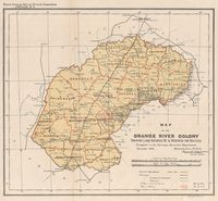 Map of the Orange River Colony shewing land occupied & reserved for natives