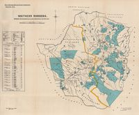 Southern Rhodesia : shewing approximately land reserved for natives