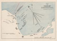 Plan of Table Bay shewing positions of vessels in the Bay during the gales of July 1878, with direction of wind, and swell (to accompany A. C. Jenour's evidence.)