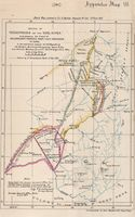 Sketch of the Territories on the Vaal River to accompany the Award of His Excellency R.W. Keate Esqre Lieut. Governor of Natal in the arbitration between the S.A. Republic & the Batlapin Baralong & Bangoakelze Native tribes and Nicholas Waterboer, paramou