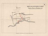 Mossel Bay & Oudtshoorn rly. survey : general plan of proposed line