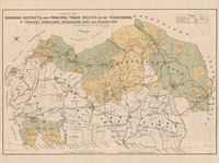 Sketch map shewing districts and pricipal trade routes in the Territories of Transkei, Tembuland, Griqualand East and Pondoland