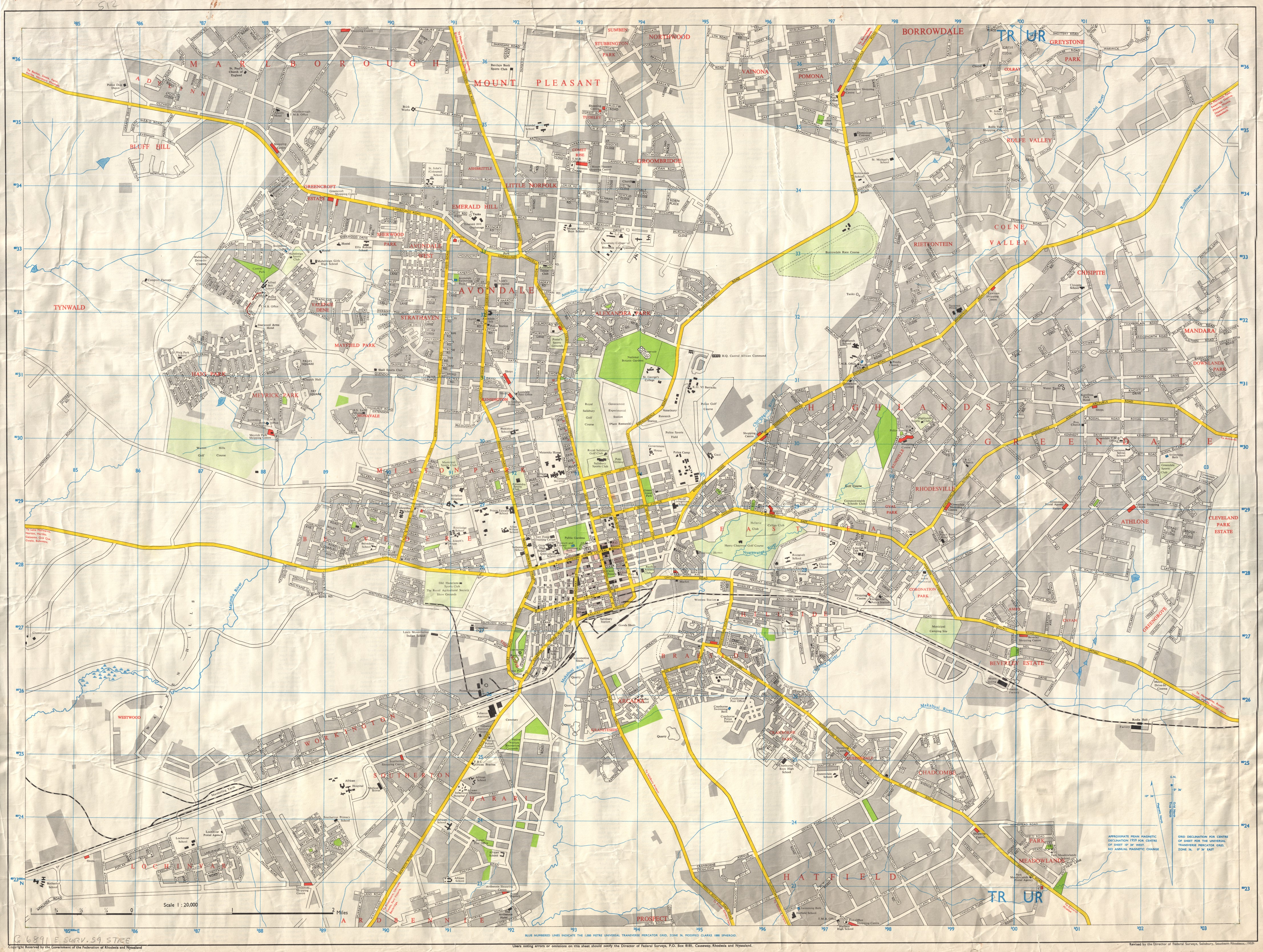 Street map of Salisbury | UCT Liries Digital Collections on bridge street map, road map, parking lot map, jackson street map, a street art, a street intersection, washington street map, weather map, state map, detailed street map, physical map,