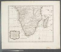 Nieuwe en Naauwkerige Kaart van het Zuidlyk Gedeelte van Africa ... verbeeterd door W.A. Bachiene