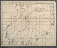A chart of the coast of Africa from Mozambique to the Straits of Babelmandel and the adjoyning Ocean