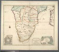 Nieuwe Caarte van Kaap de Goede Hoop en't Zuyderdeel van Africa