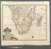 A new and accurate map of the southern parts of Africa Containing Lower Guinea, Monoemugi, Zanguebar, the Empire of Monomotapa, Country of the Cafres & c. and the Island of Madagascar. Drawn from the best Authorities, assisted by the most approve