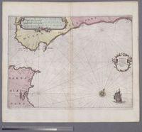 Tabula transitus Gibraltaris cum Portibus Hispanicis usq. Malagam