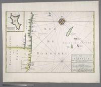 Carte particuliere des Costes de l'Afrique depuis C. del Gado jusques Rio Mocambo, et les Isles aux Environs. Levee Par Ordre Expres de Roys de Portugal sous qui on en a Fait la Decouverte