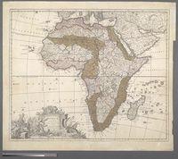 Africa Mauro Percussa Oceano, Niloque admota tepenti ... Cum Privilegio Ordinum Hollandia et Westfrisia