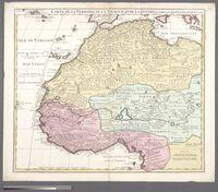Carte de la Barbarie, le la Nigritie et de la Guinee