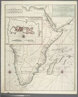 Carte des Costes de L'Afrique depuis Cap de Lopo jusques a l'Isle Mazira. Levee par Ordre Expres des Roys de Portugal sous qui on en a Fait la Decouverte