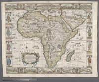 A new and most exact map of Africa described by N.I. Vischer and don into English; Enlarged and Corrected according to J. Blaeu and Others, With the Habits of ye people, and ye manner of ye Cheife sitties ye like never before