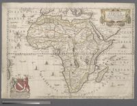 A new Map of Africa Designed by Mounsir Sanson, Geographer to the French King. Rendered into English and Illustrated with Figurs by ... by the Kings Especiall Command