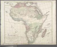 Africa nach Robert Vaugondy, Rennell's und Solzmann's Skizze des nordlichen Theils von Africa