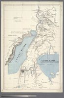 A Map of the Albert N'yanza and of the Routes leading to its Discovery in 1864 by Sir Samuel White Baker