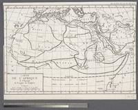 Carte de l'Afrique a l'Epoque de l'origine des Empires