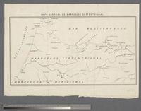 Mapa General de Marruescos Septentrional (N. Morocco)