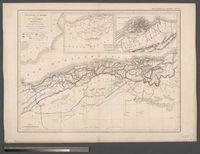 Carte Physique rt Politique de L'Algérie Septentrionale Dressée par L. Dussieux, 1847, D'après les Cartes du dépot de la guerre du Capitaine Carette et de Dufour