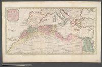 Het Noordelykste Deel van Afrika behelzende Barbarie, Egypyte enz Als mede de geheele Middellandsche Zee ... d.Anville, MDCCLXII