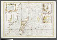 Carte Reduite du Canal de Mozambique et des Isles de Madagascar, de France, de Bourbon, de Rodriques et autres