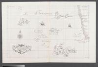 Carta particolareche mostra il Capo buona Speranza con il Mare Verso Ponte e con L'isole di Tristan D'Acunha e di Martin Vaz