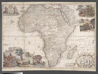 Africa corrected from observations of Mess. of ye Royal Societies at London and Paris