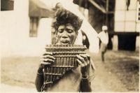 Mrola of Fukula band playing Nyanga at Mopea