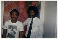 David Hlongwane wearing CAP t-shirt