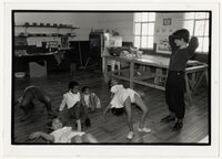 Beverley Barry at a movement class for children