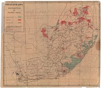 Union of South Africa : distribution of native areas