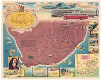 Verkeersweё. Die verhaal van 300 jaar van vervoer in Suid-Africa tesame met 'n geїllustreerde kaart aangebied deur die administratie van die Suid-Afrikaanse spoorweё en hawens by geleentheid van die Van Riebeeck-fees