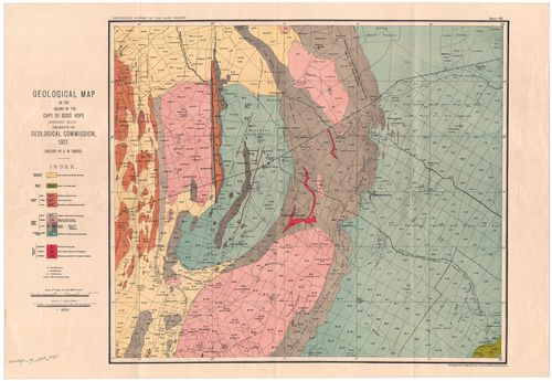 Geological map of the Colony of the Cape of Good Hope, sheet XLV ...
