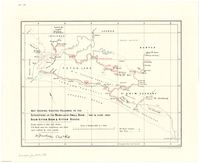 Map shewing routes followed in the expeditions up the Mamalaghi Small Boom, Boom Kittam, Boom & Kittam Rivers