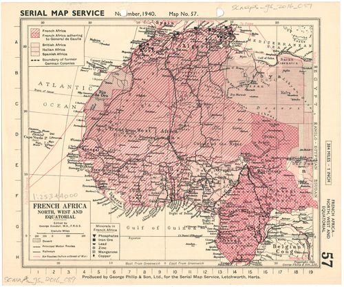 Map Of Africa French.French Africa North West And Equatorial Uct Libraries Digital