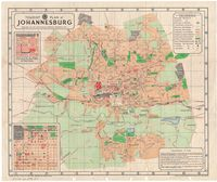 Tourist plan of Johannesburg