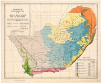 Sylvicultural map of the Union of South Africa
